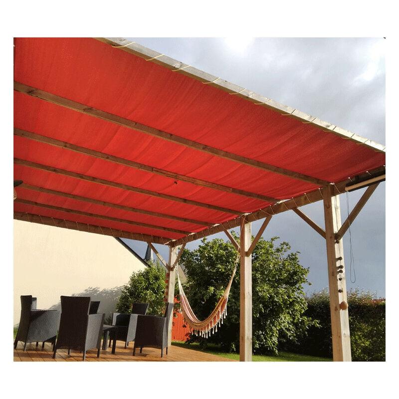 DIRECT FILET Toile Ombrage 6 x 3 m - Perméable   Terracotta