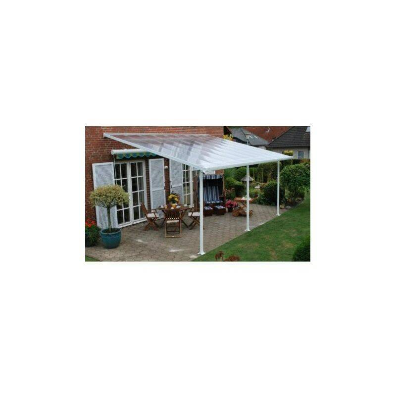 CHALET & JARDIN Chalet&jardin; - Toit de terrasse FERIA PATIO COVER Blanc 4x8m