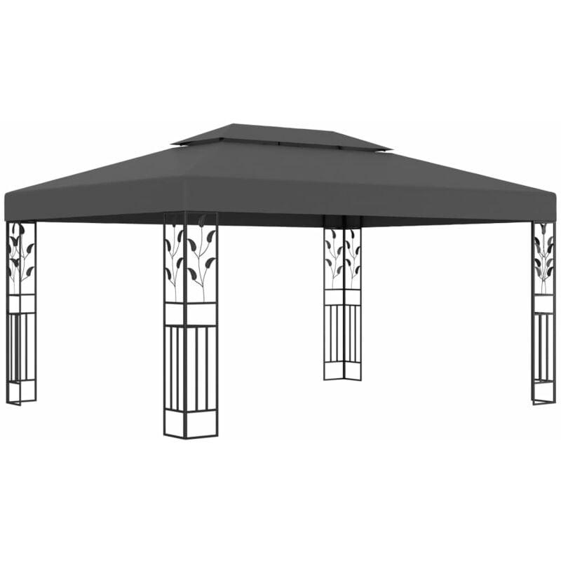 Vidaxl - Tonnelle avec double toit 3x4 m Anthracite