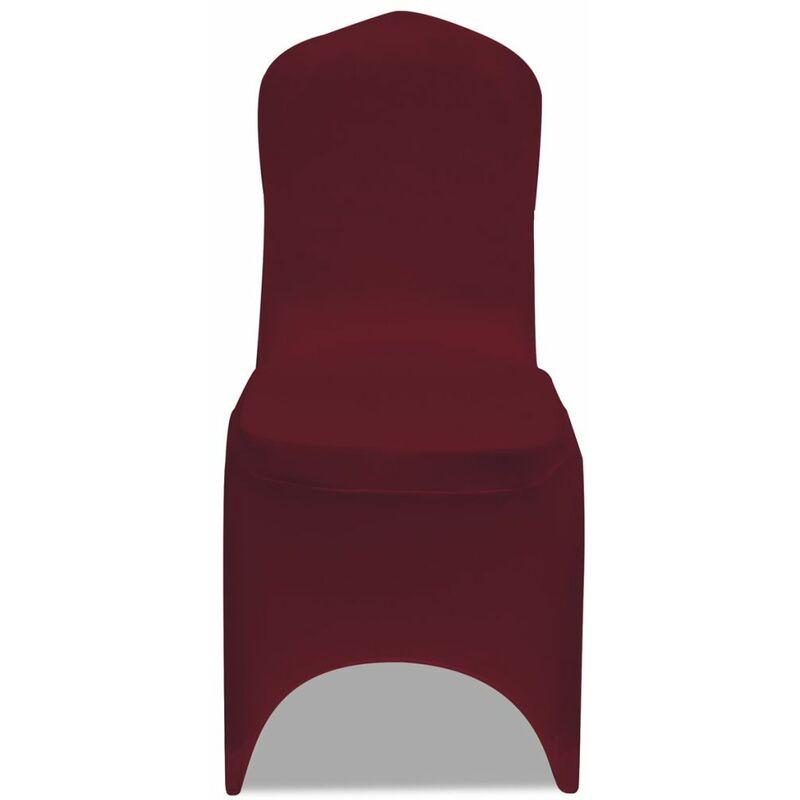 Topdeal VDLP00250_FR 50 housses de chaise extensibles bordeaux