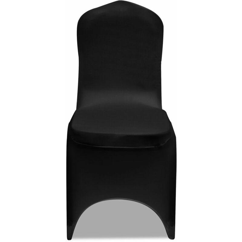 Topdeal VDLP00249_FR 50 housses de chaise extensibles noires