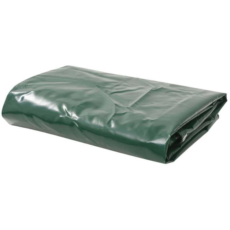 Topdeal VDTD06269_FR Bâche 650 g / m2 1,5 x 6 m Vert