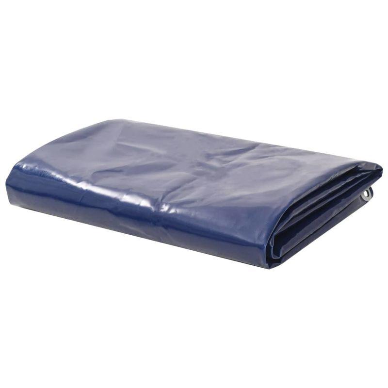 TOPDEAL VDTD06282_FR Bâche 650 g / m2 6 x 8 m Bleu - Topdeal