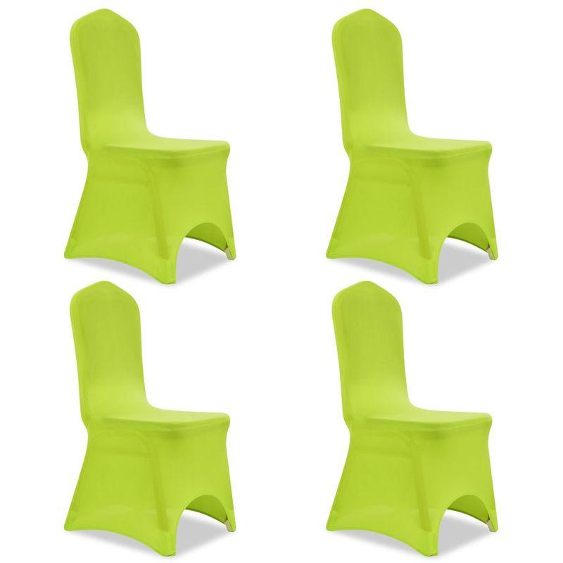 Topdeal VDTD00915_FR Housse de chaise extensible 4 pcs vert
