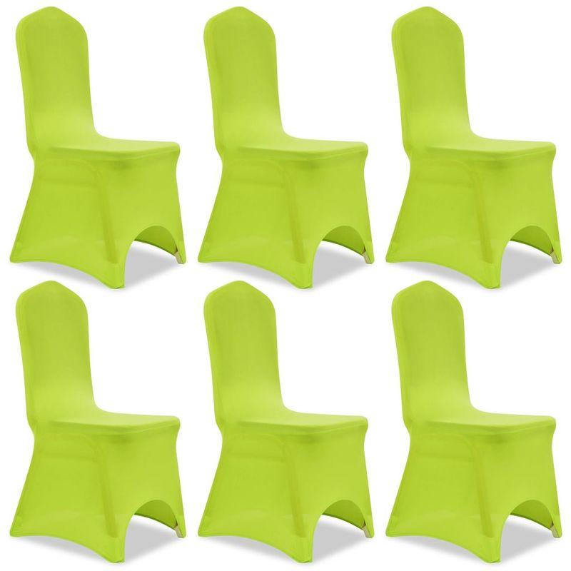 Topdeal VDTD00912_FR Housse de chaise extensible 6 pcs vert