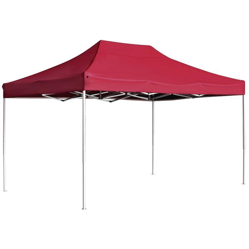 Topdeal VDTD29624_FR Tente de réception pliable Aluminium 4,5x3 m Bordeaux