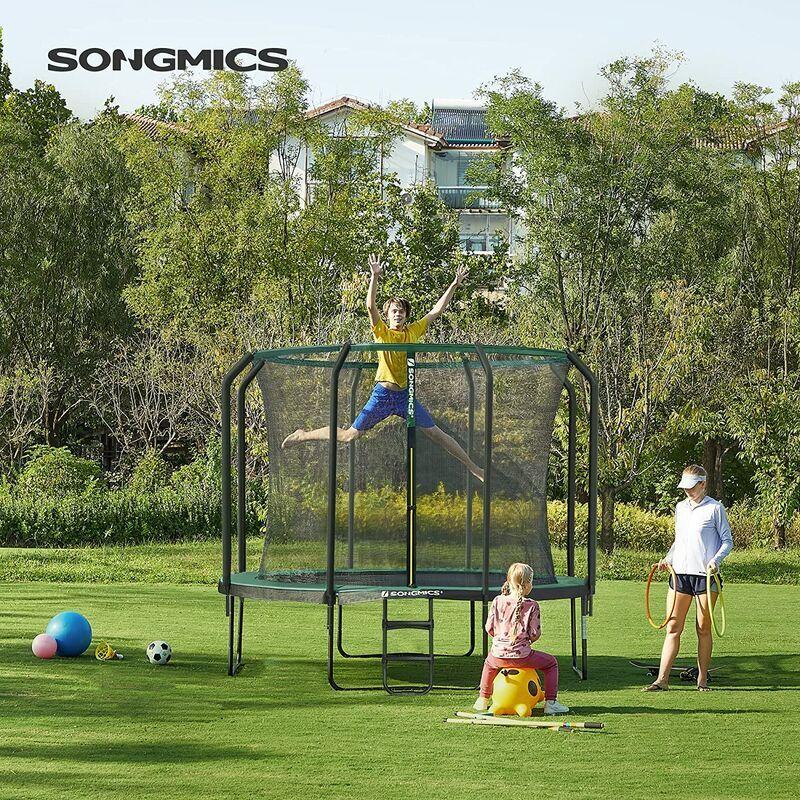 Songmics - Trampoline de 366 cm, Trampoline de Jardin Rond, avec Filet de