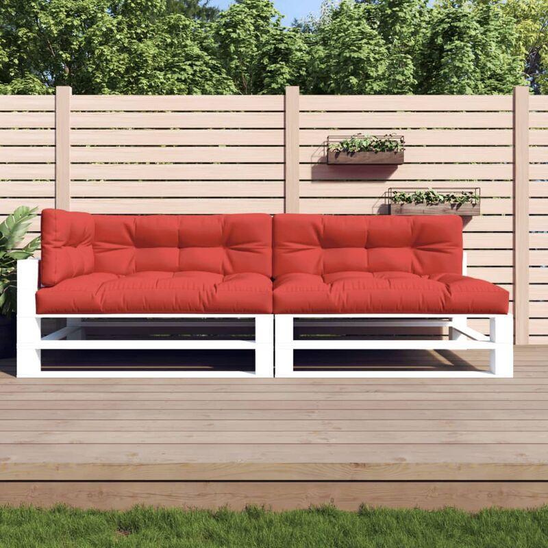 True Deal Coussins de canapé palette 5 pcs Rouge