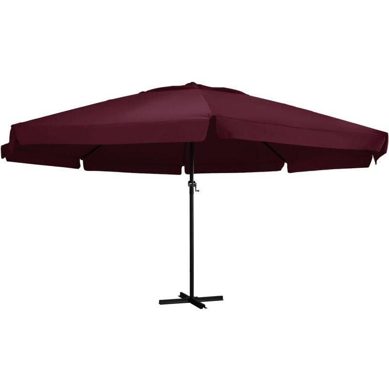 True Deal Parasol d'extérieur avec mât en aluminium 600 cm Bordeaux