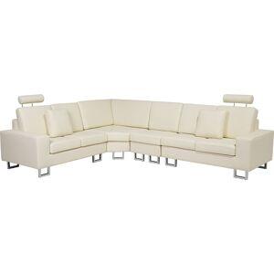 Beliani - Canapé angle à droite 6 places en cuir beige STOCKHOLM - Publicité