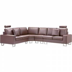 Beliani - Canapé angle à droite 6 places en cuir marron STOCKHOLM - Publicité