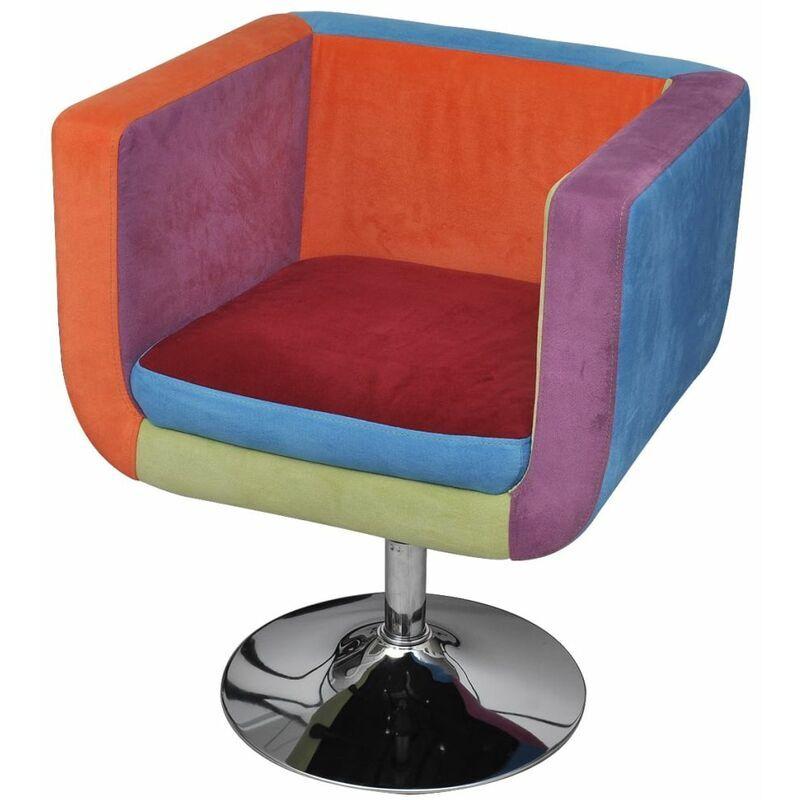 Zqyrlar - Fauteuil avec design de patchwork Cube Tissu