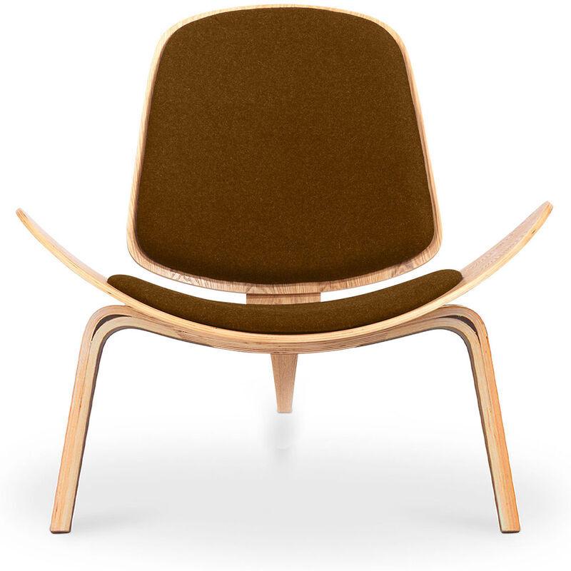Privatefloor - Fauteuil CH07 armchair Wegner Style Marron