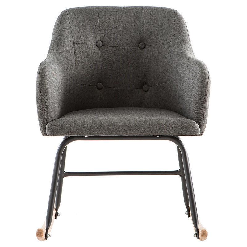 MILIBOO Rocking chair scandinave BALTIK - Miliboo & Stéphane Plaza - Gris foncé