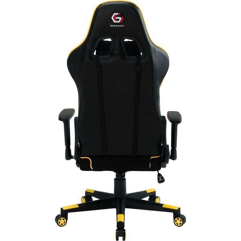 GEMBIRD gc-scorpion-05 chaise de jeu vidéo noire, siège en maille jaune - Gembird