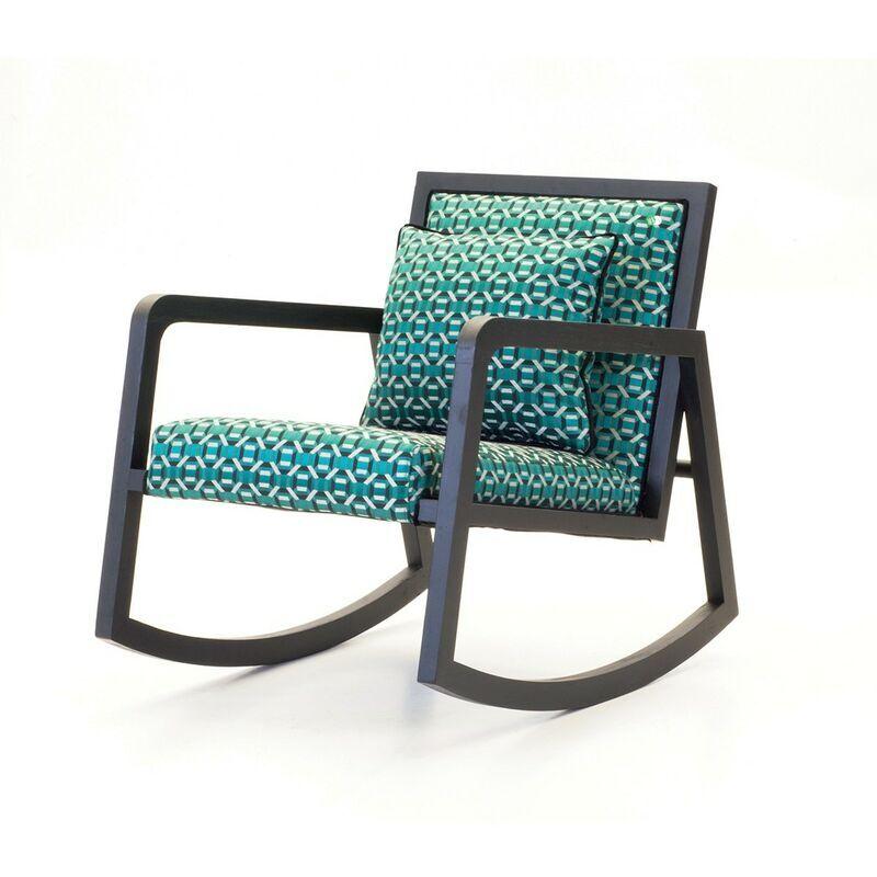 Signature - Rocking chair Géo vert