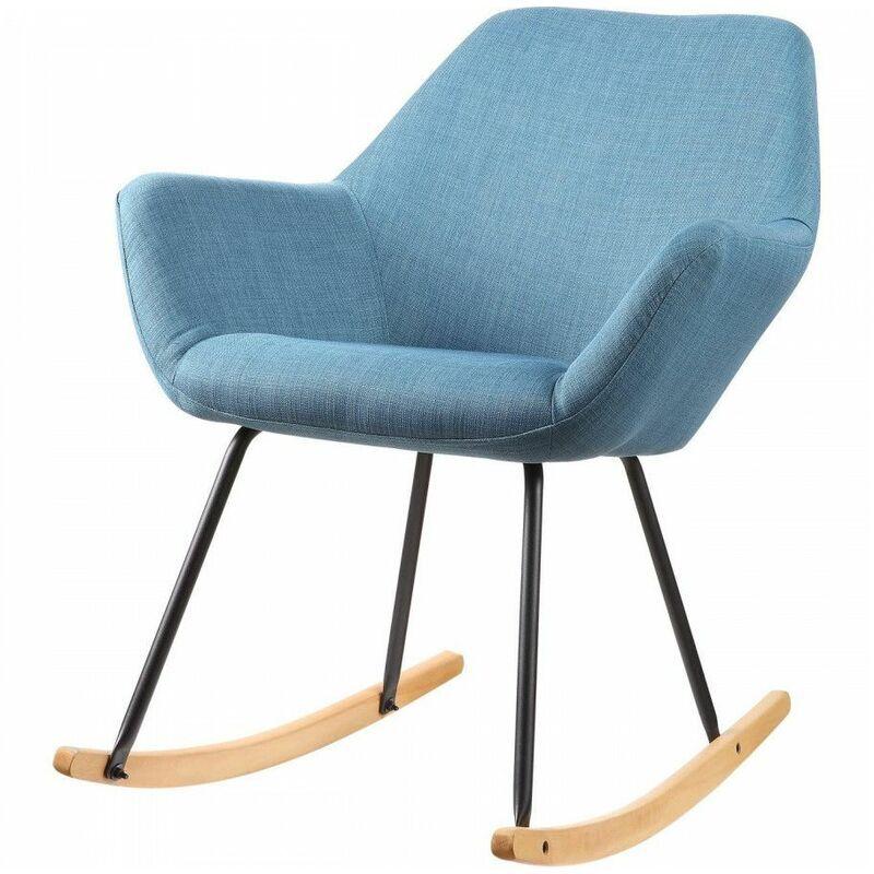 BOBOCHIC Rocking chair PALMA style scandinave Bleu