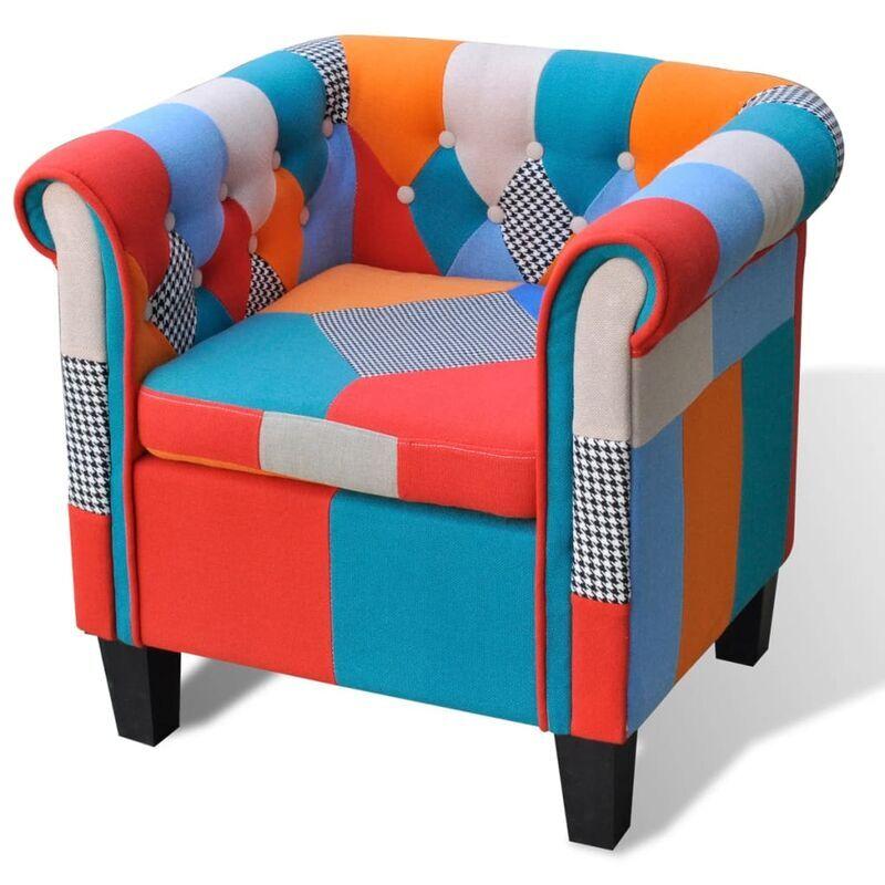 True Deal Fauteuil avec design de patchwork Tissu