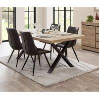 DELADECO Table de salle à manger contemporaine coloris chêne Yannick Table 200 cm - Chêne <br /><b>612.9 EUR</b> ManoMano