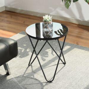 Furniturer - 2208 Petite Table basse ronde en Verre Table d'appoint 45 * 45 * - Publicité