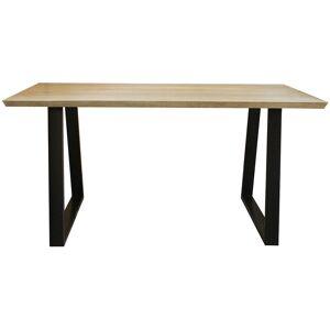 Miliboo - Table à manger en manguier massif et métal noir L160 cm VIJAY - Publicité