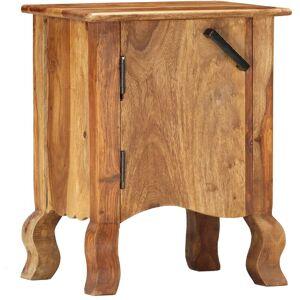 Zqyrlar - Table de chevet 40 x 30 x 50 cm Bois massif - Publicité