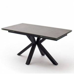 Inside75 - Table extensible NODA 160 x 90 cm plateau céramique anthracite pied - Publicité
