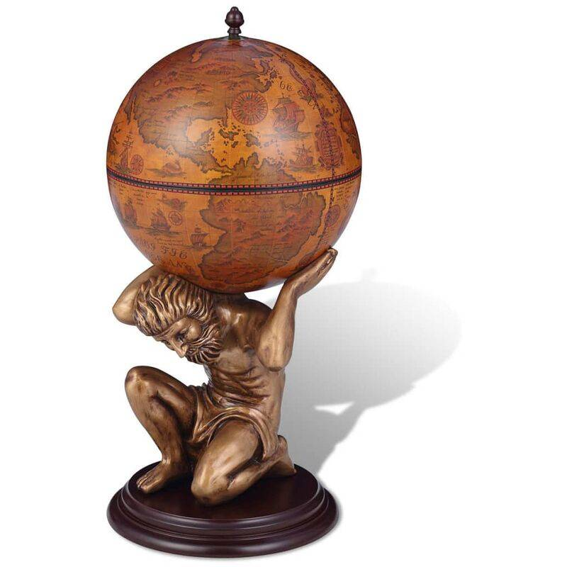 ZQYRLAR Bar sous forme de globe Atlas 42 x 42 x 85 cm
