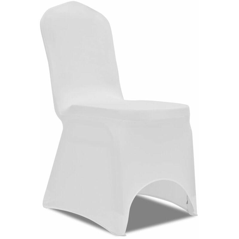 ZQYRLAR Housse de chaise extensible 100 pcs Blanc