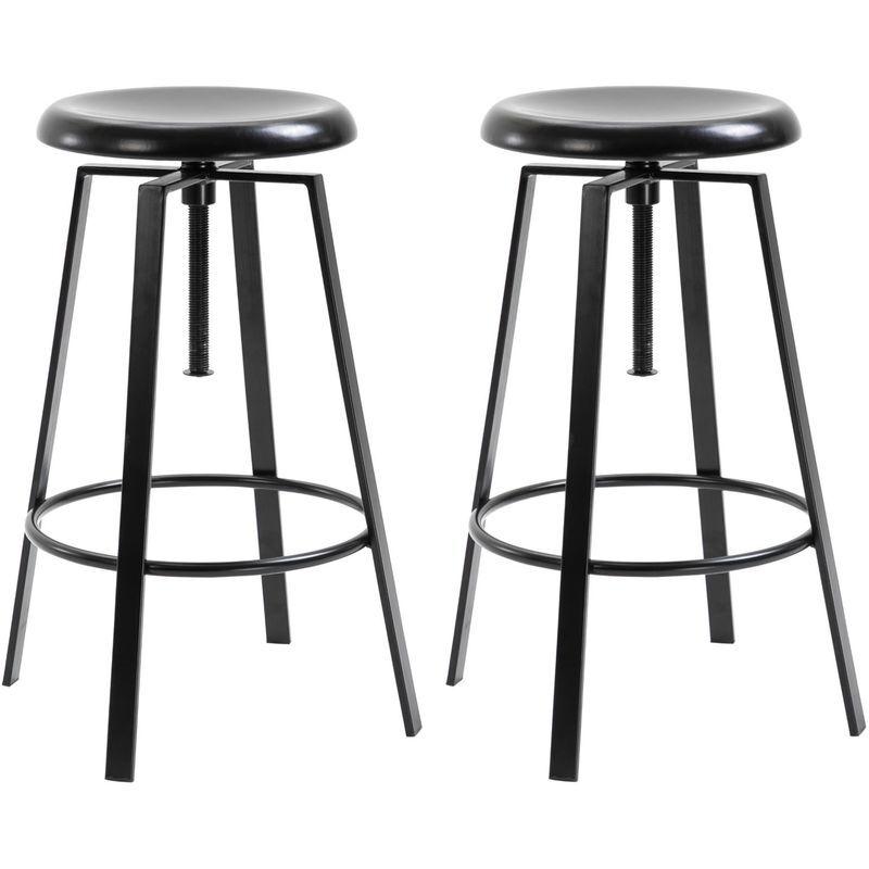 IDIMEX Lot de 2 tabourets de bar BATILDA chaise haute bistrot pour cuisine ou comptoir