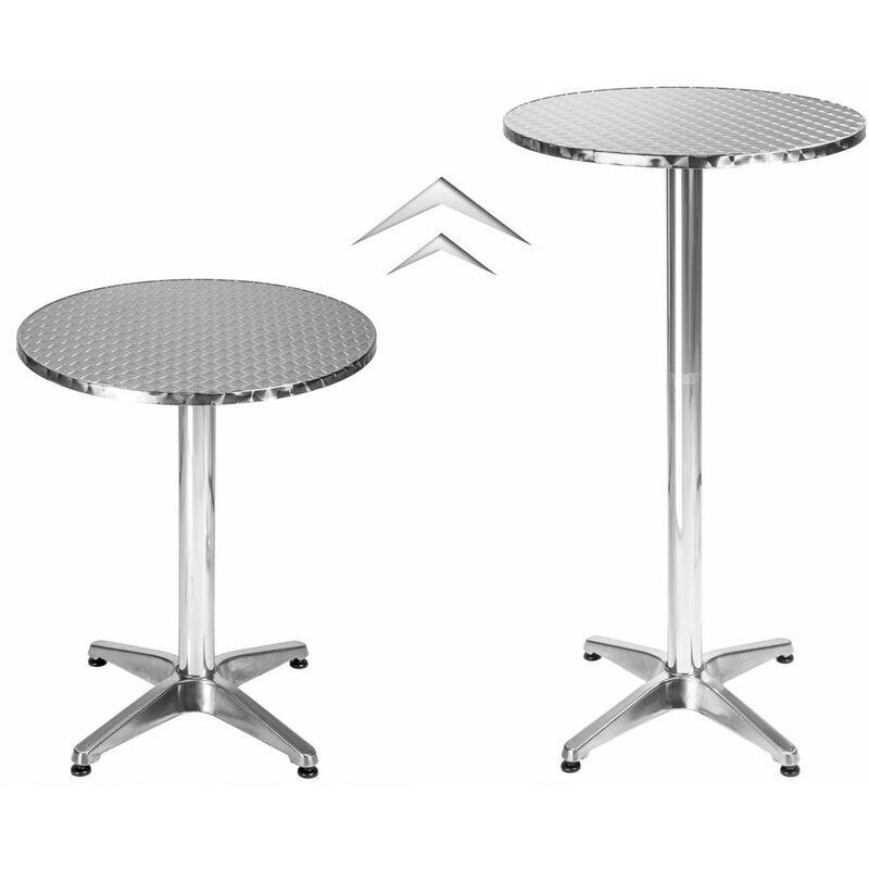 HELLOSHOP26 Mange debout aluminium diamètre table 60 cm diamètre pied 5,8 cm non-pliable