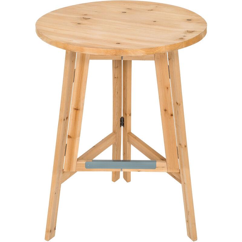 Tectake - Mange debout bois Ø 79 cm - table bar, table haute, table haute de