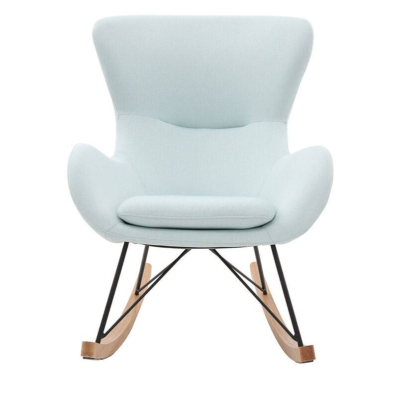 Miliboo - Rocking chair design velours ESKUA - Vert Menthe