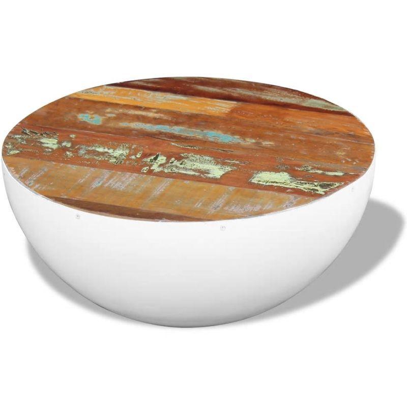 Topdeal VDTD09760_FR Table basse sous forme de bol Bois de récupération massif