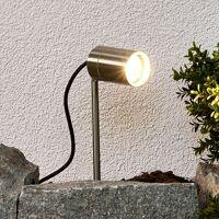 Lindby - Lampe sur piquet 'Naima' en inox <br /><b>23.90 EUR</b> ManoMano