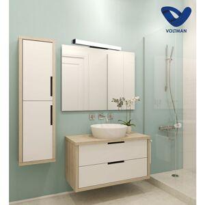 VOLTMAN Applique salle de bain 78cm noire - ELIA techno OPTICARE™ IP44 20W 4000K 1600Lm - Publicité