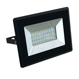 V-TAC Projecteur Led Slim 30W Light Naturel 4000K Couleur Noire Vt-4031 5953 - Publicité