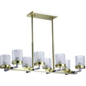REGENBOGEN Megapolis Hamburg chrome+brass metal transparent glass 8*60W E27 605011808 - Publicité