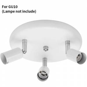 Topdeal LLDUK-MC0030612X3-FRUK 3 PCS Projecteurs LED à trois têtes - Publicité