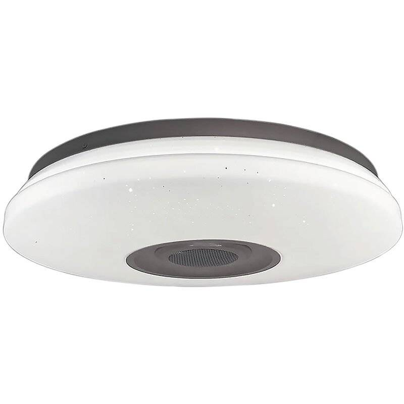 MOHOO 72W Dimmable RGB LED Musique Plafonnier Bluetooth APP Lampe (Blanc, Controle