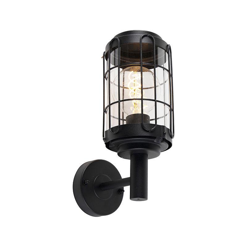 QAZQA Applique industrielle noire IP44 - Bares Qazqa Industriel Luminaire exterieur
