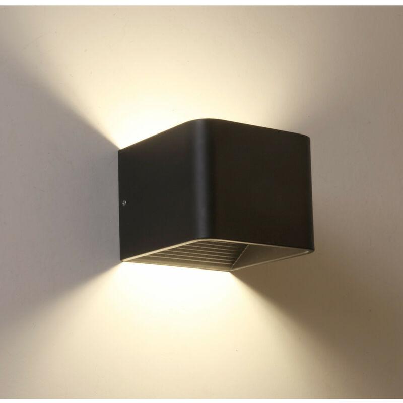 KOSILUM Applique LED compatible variateur coloris noir - Quadra - Noir