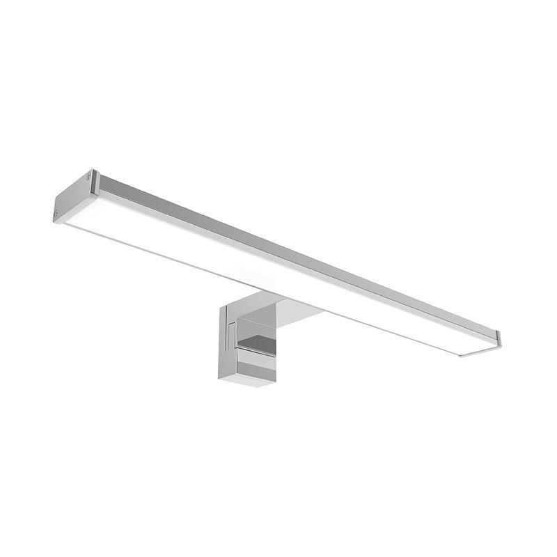 VISION-EL Applique LED Miroir de salle de bain 12W (110W) Blanc chaud 3000°K Finition Alu