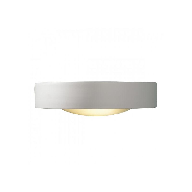 DAR Applique murale Catalan blanc et verre givré 1 ampoule