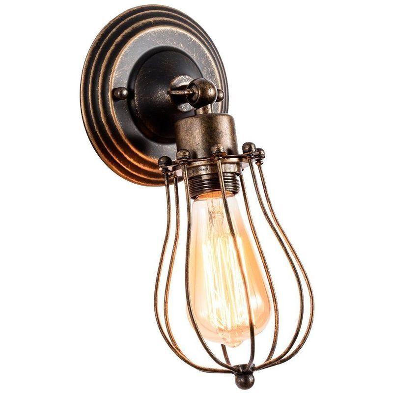 Stoex - Applique Murale Industrielle Métal Fer E27 Luminaire Vintage Retro pour