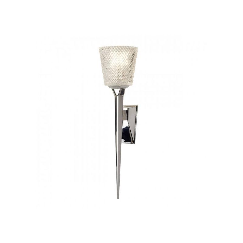 Elstead - Applique salle de bain Verity chrome poli, verre