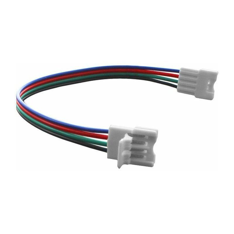 BYLED® Connecteur ruban LED RGB 10 mm Click + câble 13 cm + click   Connectique pour
