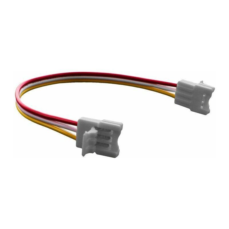 BYLED® Connecteur ruban LED WW/CW 10 mm Click + câble 13 cm + click   Connectique pour