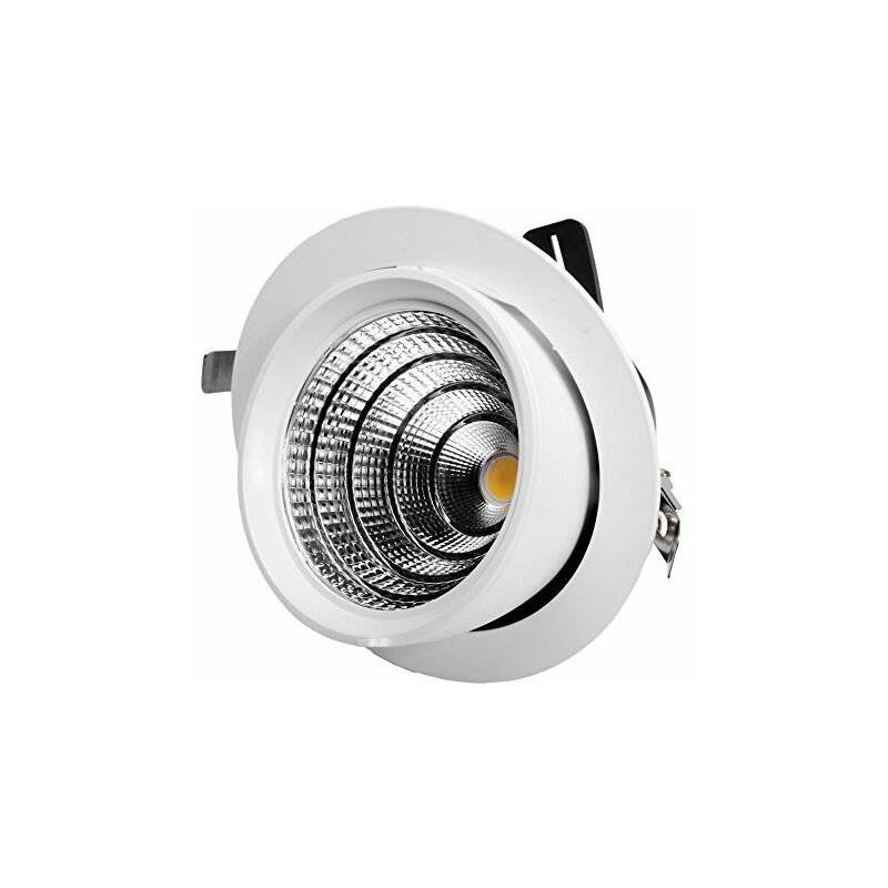 DIGILAMP 57-X5004D-50W-Lampe LED downlight WH3K orientable Blanc - Digilamp