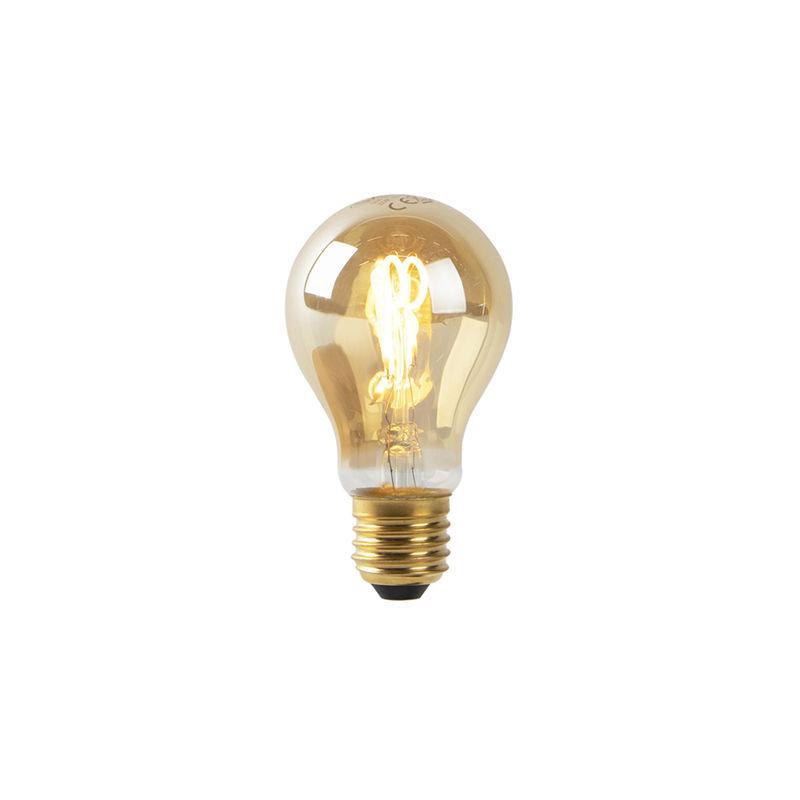 LUEDD E27 LED filament spiralé doré A60 2W 90 lm 2200K - Luedd